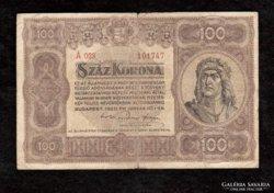 100 Korona 1920 Nagy Alakú