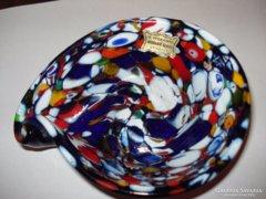 Érdekes formájú muranoi üvegtál