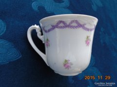 Antik számozott apró rózsás csésze