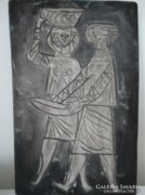 Retro kerámia falikép 1969-ből