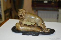 Keleti zsírkő oroszlán figura