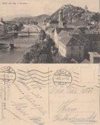 Ausztria  Graz mit den 3 Brücken   1913   RK