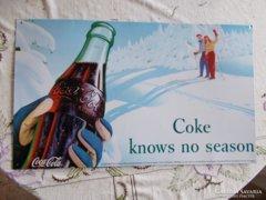 Régi Coca cola reklám lemez,..50x 30 cm