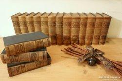 Antik, 1890-es kiadású Meyers Konversations-Lexikon teljes s