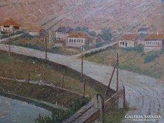 Murányi Gy.Tájkép 1926 antik km.festmény