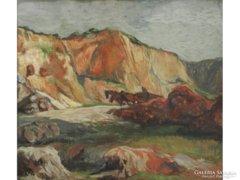 Magyar festő 1900 körül : Hegyek között