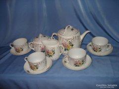 Antik porcelán teás készlet