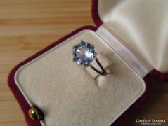Világos kék köves ezüst gyűrű - új ékszer