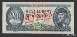20 forint 1969.  MINTA!!!  RITKA !!! UNC !!!