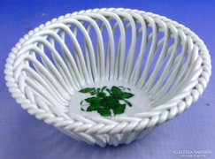 0E109 Apponyi mintás herendi porcelán fonott kosár