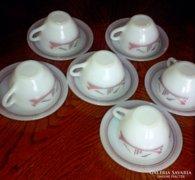 6 szem. teàs készlet mexikói hőálló üvegből