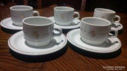 Alföldi porcelán kávéskészlet 5 szem.