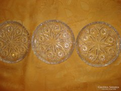 Csiszolt kristályüveg tálak(3 db)