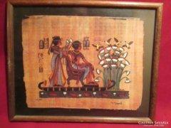 Kép1 21x26 cm egyiptomi kép pergamenre