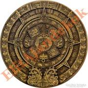 HATALMAS azték naptár bronz emlékérme
