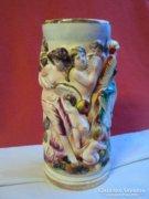 Capodimonte váza fajansz