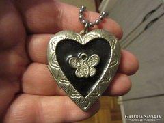 Nagy szívmedál (fényképtartós)