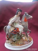 Rare Passau Porcelain Art Deco Figural Bowl Porzellan Schale German Deko Germany
