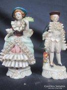 KPM Berlin barokk porcelán pár, igen szép darabok