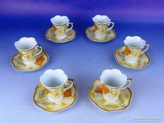 0E883 Japán szecessziós porcelán kávés készlet 6sz