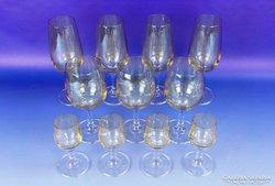 0F073 Retro irizáló üveg pohár készlet 11 db