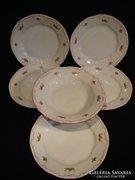 5 db Zsolnay porcelán tányér