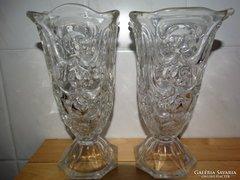 Art deco üveg vázapár