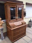 Antik bútor, Biedermeier vitrines írószekrény.