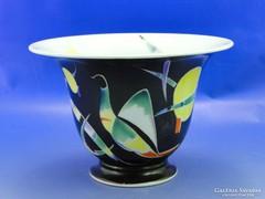 0B025 Bakos Éva herendi porcelán kaspó