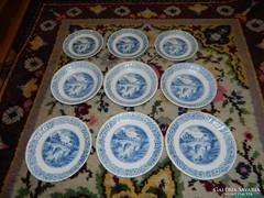 Arcopal angol jelenetes tányérkészlet 9 db-os 3 személyes
