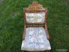 Neoreneszánsz antik fotel.