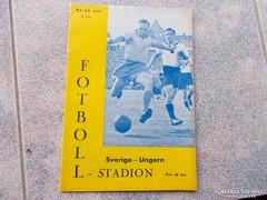 Svedország-Magyarország, 1957. Fóci program