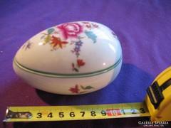 Herendi porcelán tojás bonbonier 11 cm 1943 Nanking Bouquet