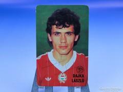 0D408 Dedikált Dajka László kártyanaptár 1986