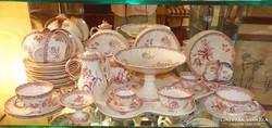 Antik Sarreguemines porcelán készlet