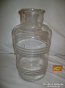 Régi, különleges fújt üveg, befőttes üveg