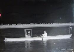 0F630 Antik üveglemez fotográfia üvegnegatív