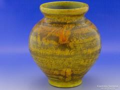 6613 Jelzett mázas retro kerámia váza