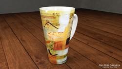 Csodás cappuccinós bögre művészi dekorral_4
