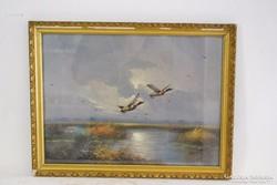 Szignózott Olajfestmény 1900 32x42 cm