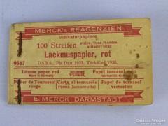 0F204 Antik MERCK'S indikátor lakmuszpapír 1930