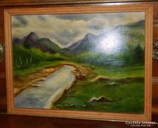 Kvalitásos olaj /fa j festmény : folyópart