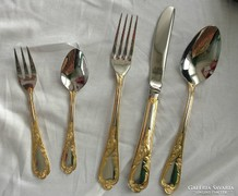 Extremely rare! 12 Personal 24 carat thick gold cutlery + fish.Ebel solingen qualitäts juwelier