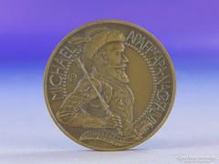 0F948 Michael Apafi jelzett bronz emlék érem