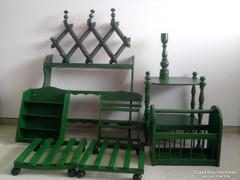 Csodás zöld parasztházi bútorok
