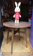 Bükkfa retro kerek asztal.
