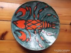 Iparművésztől-kerámia tál Bártfay Judith hibátlan szép 27 cm