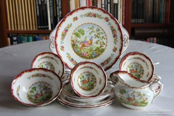Royal Albert Chelsea Bird 6 személyes teás süteményes készlet