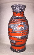 Piros-szürke kerámia váza/padlóváza (KAM)
