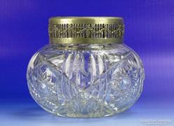 0G613 Régi nagyméretű csiszoltüveg potpuri tartó